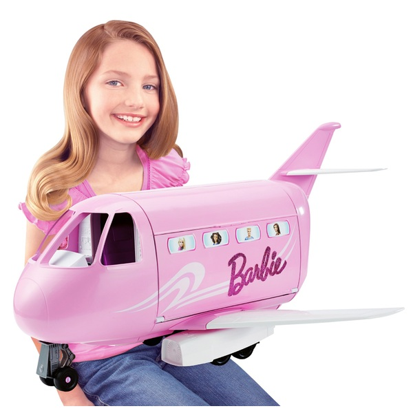 Barbie Pink Passport Glamour Jet