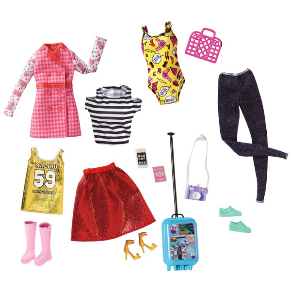 Barbie Pink Passport Fashion set