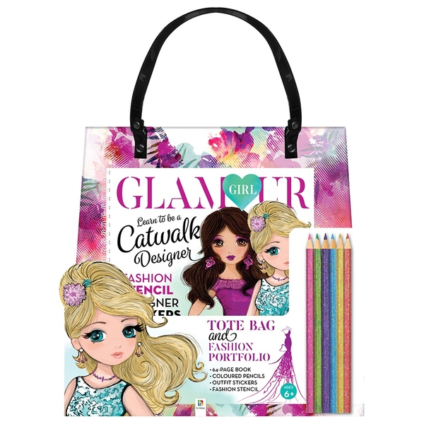 Glamour Girl Tote Bag with Book