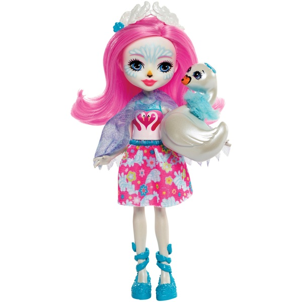 Enchantimals Saffi Swan Doll & Poise Figure Playset