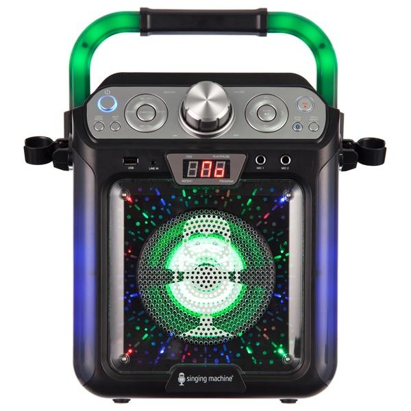 Singing Machine SML682BTBK Bluetooth CDG Plus Tablet Karaoke Machine -Black