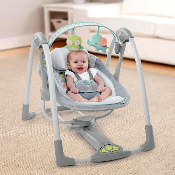Ingenuity Swing 'n' Go Portable Baby Swing - Hugs & Hoots