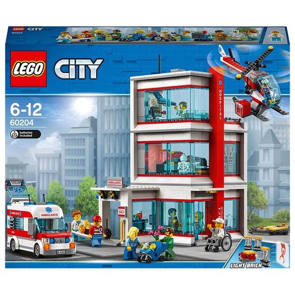LEGO 60204 City Town Hospital Building Set with Light Bricks
