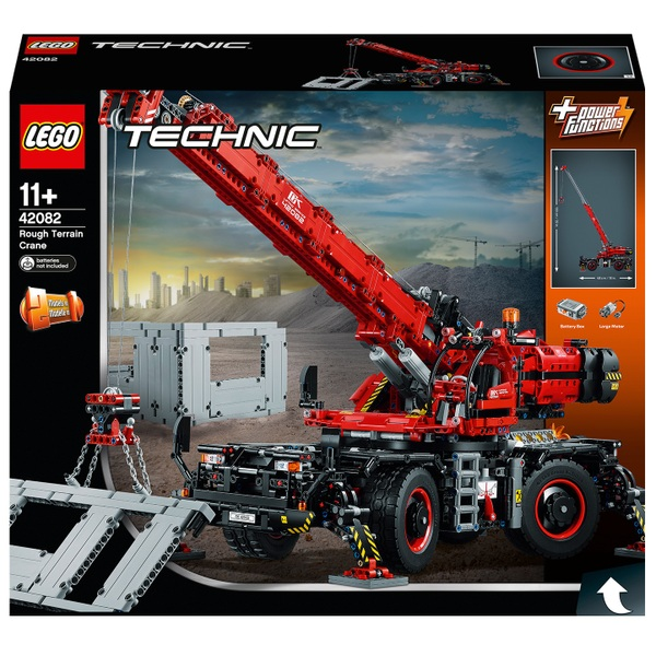 LEGO 42082 Technic Rough Terrain Crane Construction Vehicle Toy