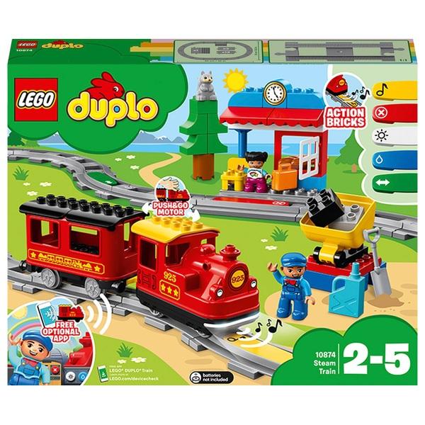 LEGO 10874 DUPLO My Town Steam Train Set with Action Bricks