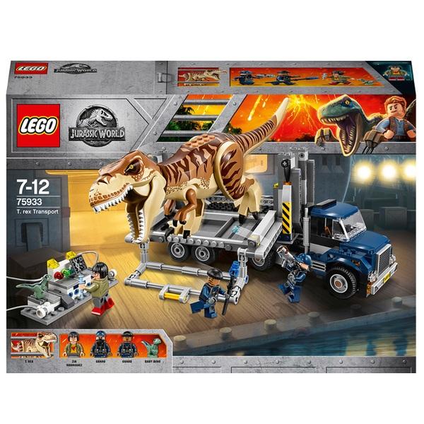 LEGO 75933 Jurassic World  T-Rex Transport Truck Dinosaur Toy