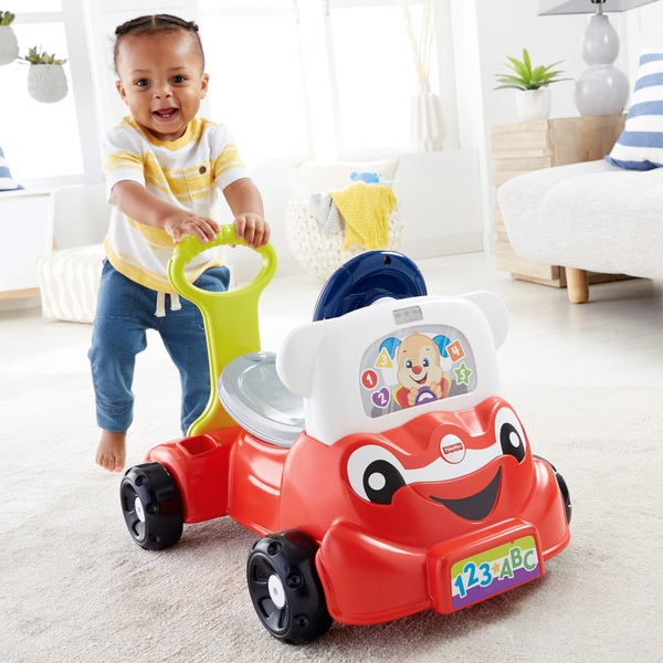 Fisher-Price Laugh and Learn Puppy's Press 'n Go Car  |Fisher Price Laugh And Learn Cars