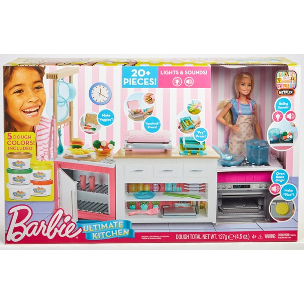 Barbie Ultimate Kitchen Playset With Doll And Accessories Barbie Playsets Range Uk