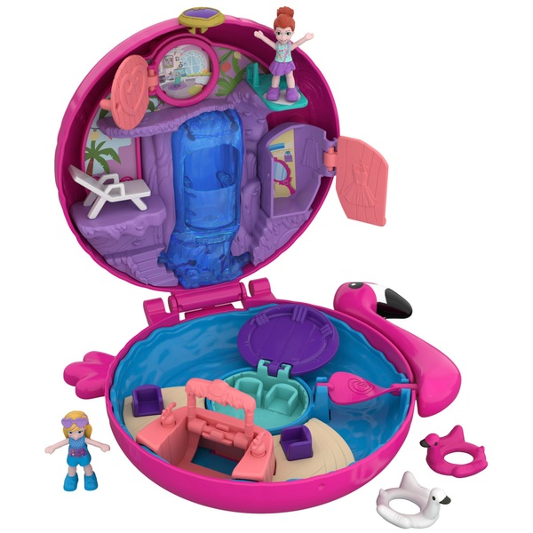 Polly Pocket Pocket World Flamingo Floatie Compact Playset