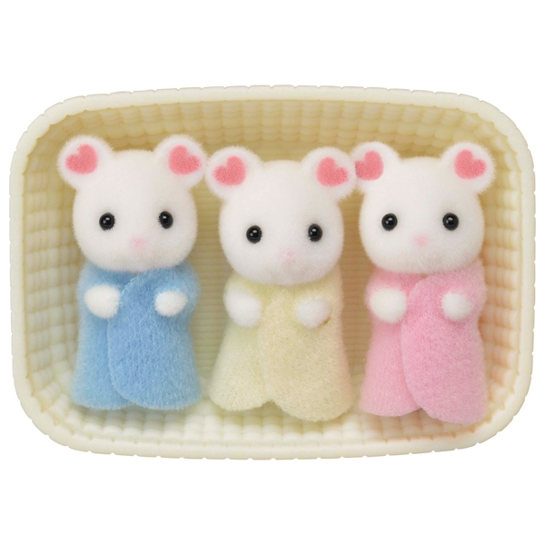 Sylvanian Marshmallow Mouse Triplets