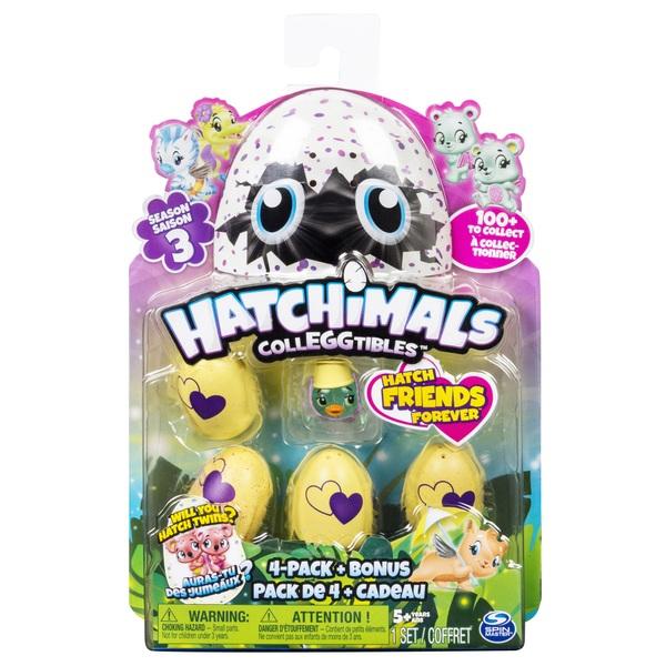 Hatchimals Colleggtibles 4 Pack + Bonus Season 3