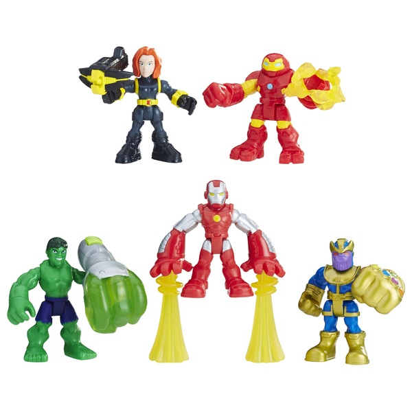 Playskool Heroes Marvel Super Hero Adventures The Power Up Squad 5-Pack