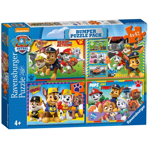 PAW Patrol Four 42 Piece Count Jigsaw Puzzle Bumper Pack