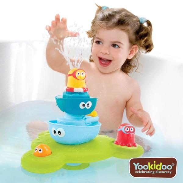 Yookidoo Stack N Spray Tub Fountain Bath Toys Uk