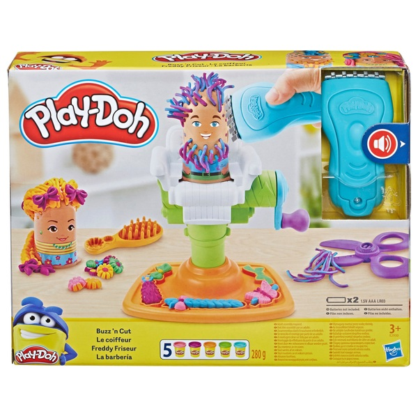 e2a52cbdeeb Play-Doh Buzz 'n Cut Fuzzy Pumper Barber Shop Toy Set - Arts UK