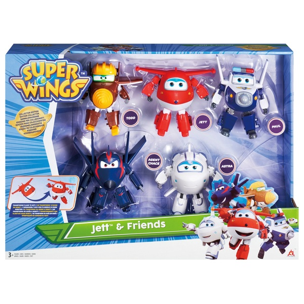 Super Wings Transforming Characters 5 Pack