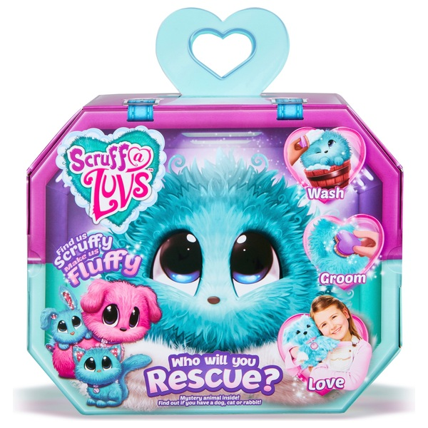 Scruff-a-Luvs Aqua Rescue Pet Soft Toy Rabbit, Kitten or Puppy Assortment