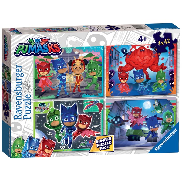 Ravensburger PJ Masks 4x 42 Piece Count Bumper Puzzle Pack