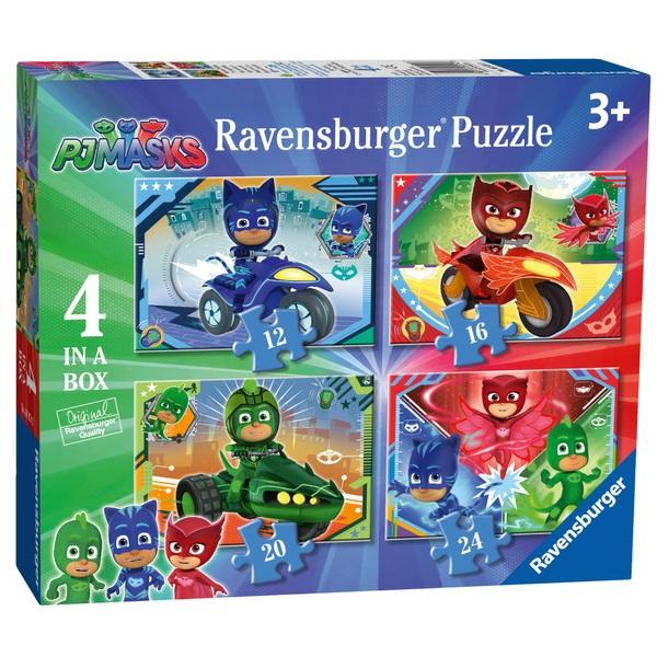 Ravensburger PJ Masks 4 in a Box (12, 16, 20, 24pc) Jigsaw Puzzles