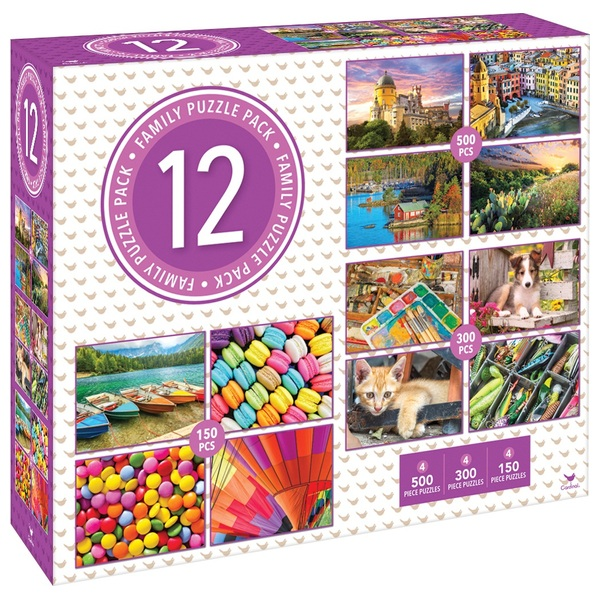 12 Family Puzzle Pack - Assortment B
