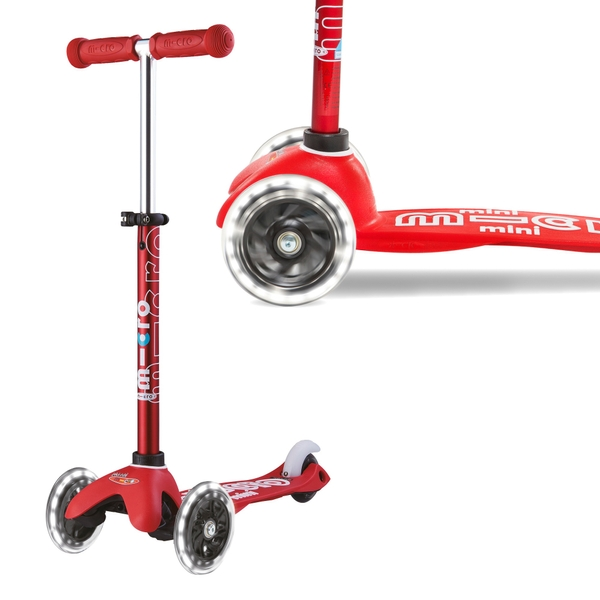 Mini Micro Deluxe LED Red Scooter