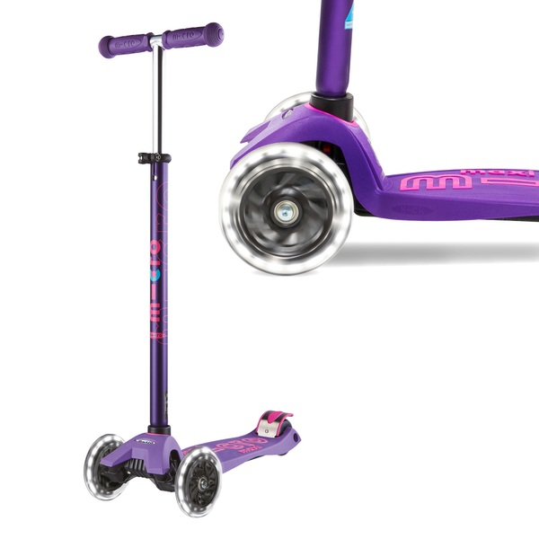 Maxi Micro Deluxe LED Purple Scooter
