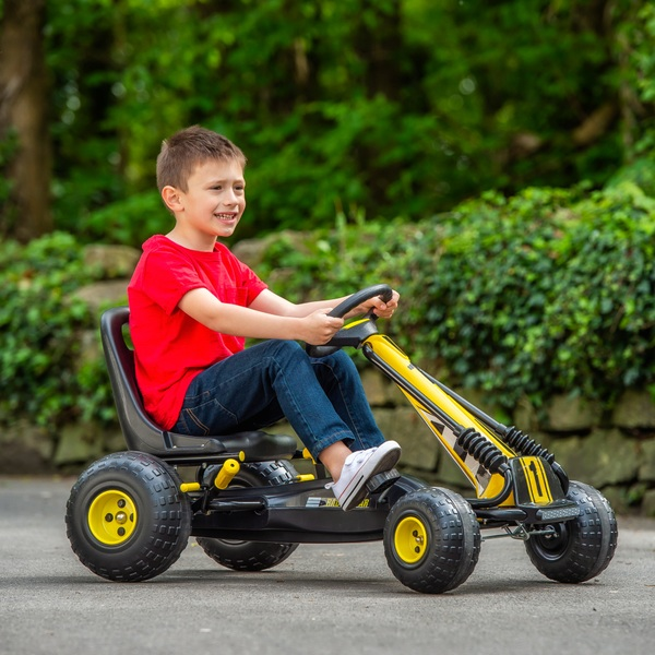 Black/Yellow Go Racing Go Kart