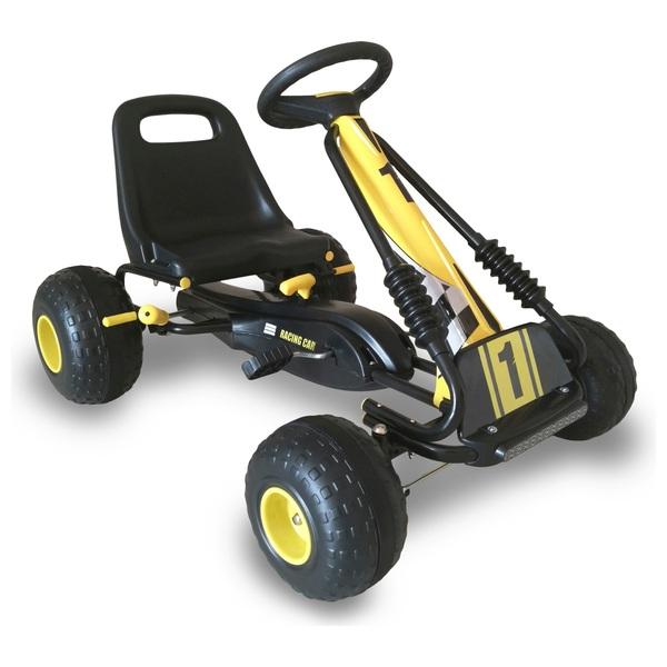 Black/Yellow Go Racing Go Kart - Go Karts  UK