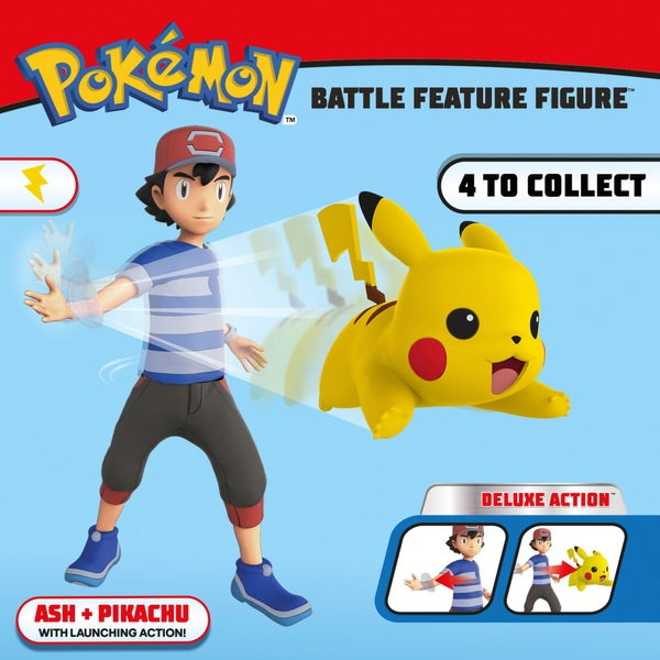 Pokémon 11cm Ash and Pikachu Battle Figures