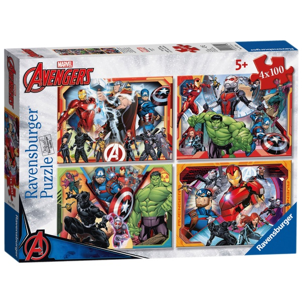 Ravensburger Marvel Avengers Assemble 4 x 100 pieces Bumper Puzzle Pack