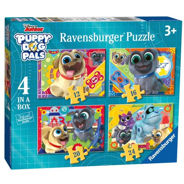 Ravensburger Disney Puppy Dog Pals 4 in a Box (12, 16, 20, 24pc) Jigsaw Puzzles