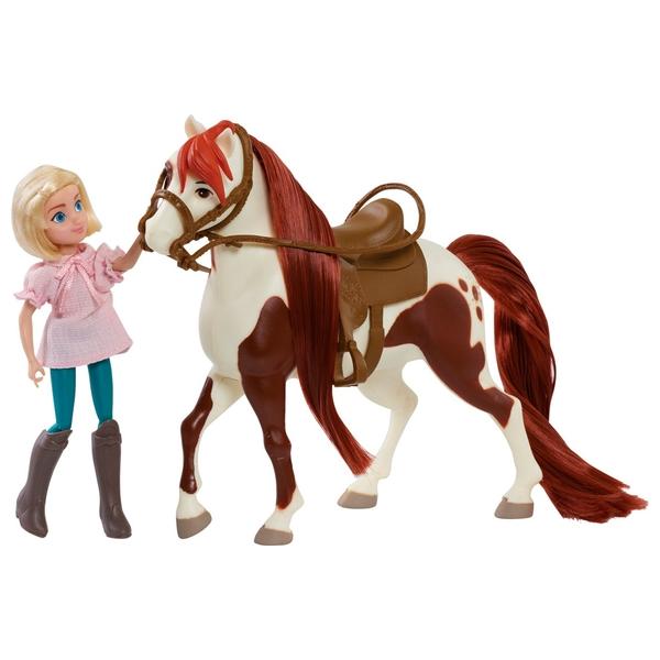 Dreamworks Spirit Riding Free Doll & Classic Horse-Abigail & Boomerang