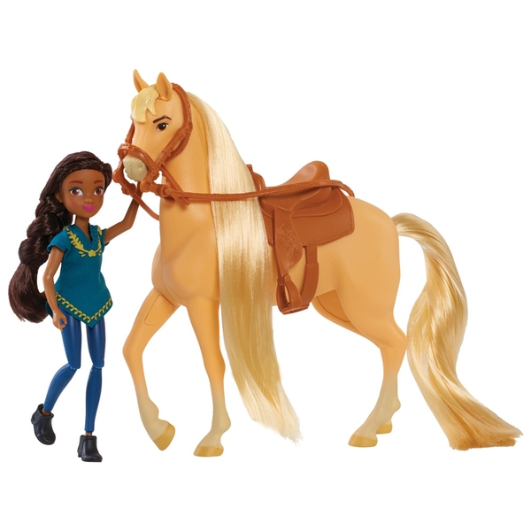 Dreamworks Spirit Riding Free Doll & Classic Horse - Prudence & Chica Linda
