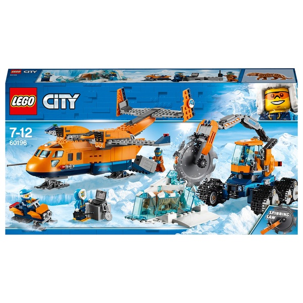 LEGO 60196 City Arctic Supply Plane Toy with Ice Vehicle