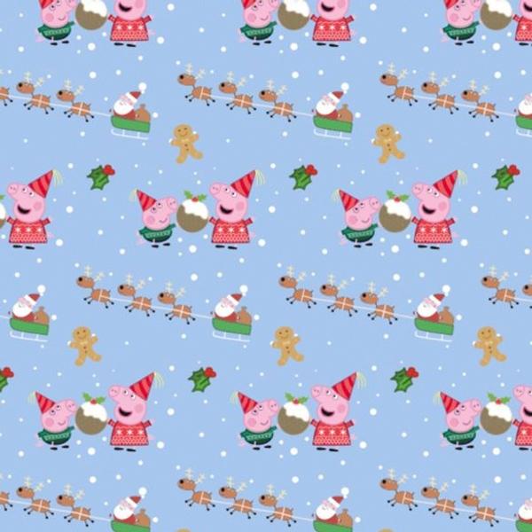 Peppa Pig Christmas 4m Rollwrap