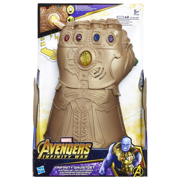 Hasbro Avengers Infinity War Marvel Legends Thanos 1:1 Infinity Gauntlet in Hand