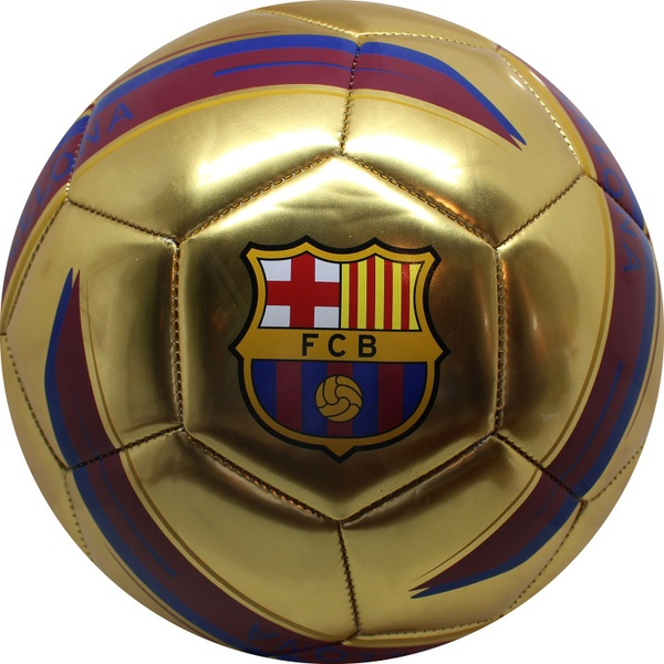 47278da5401 FC Barcelona Ball Gold Metallic Size 5 - Sports Equipment UK