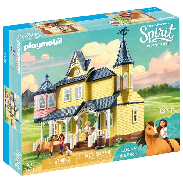 Playmobil 9475 DreamWorks Spirit Riding Free Lucky's Happy Home