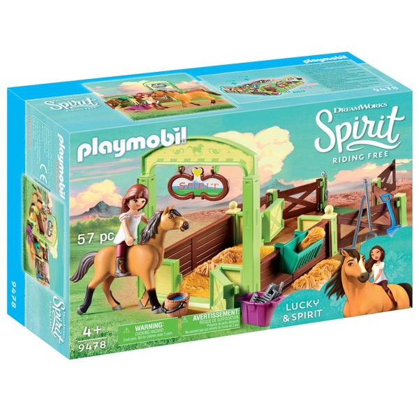 Playmobil 9478 DreamWorks Spirit Riding Free Horse Box Lucky and Spirit