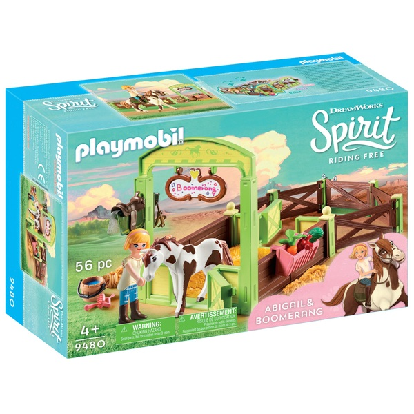 Playmobil 9480 DreamWorks Spirit Riding Free Horse Box Abigail & Boomerang