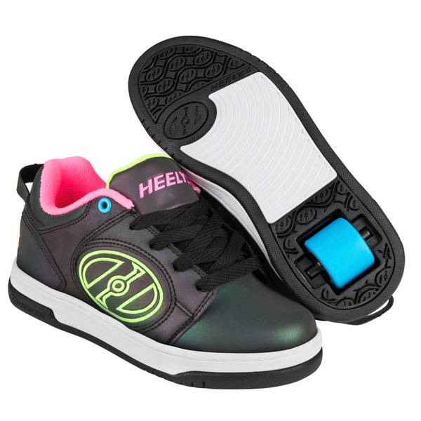 Heelys Voyager Black/Neon Yellow/Neon Pink  UK 4