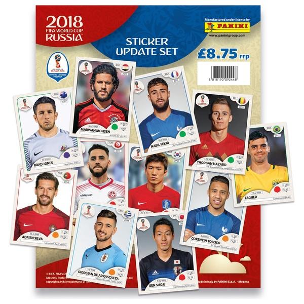 2018 FIFA World Cup Russia Official Sticker Update Set - Panini World ... d90499011452