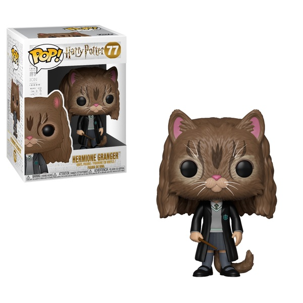 Original Harry Potter Pop Movies Vinyl Figur Hermione As Cat 9 Cm Filme & Dvds Aufsteller & Figuren