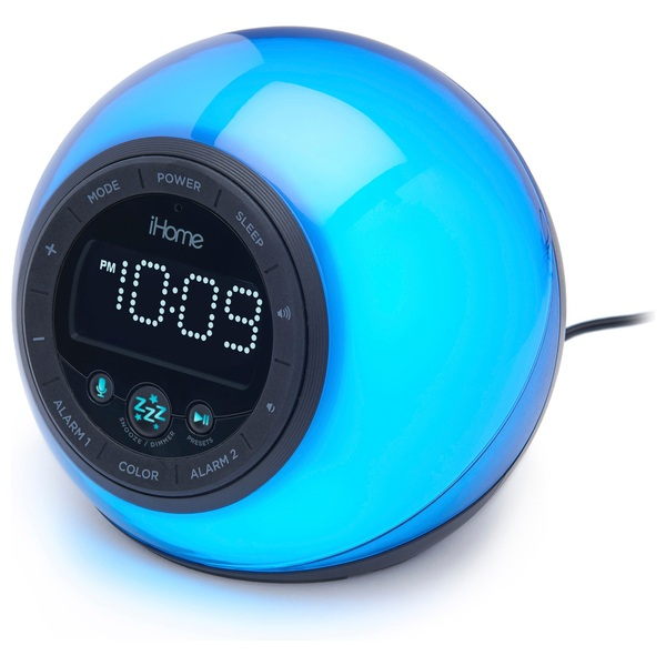 Bluetooth Colour Changing Alarm Clock, FM Radio & Speakerphone