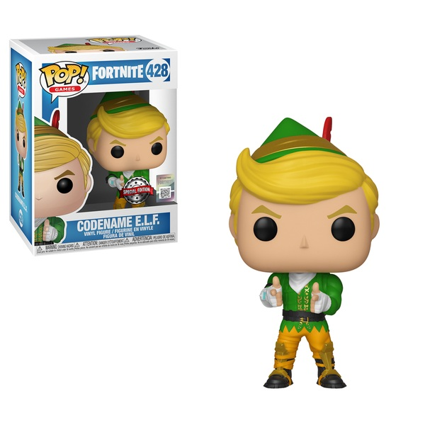 pop vinyl fortnite codename e l f figure funko pop vinyls