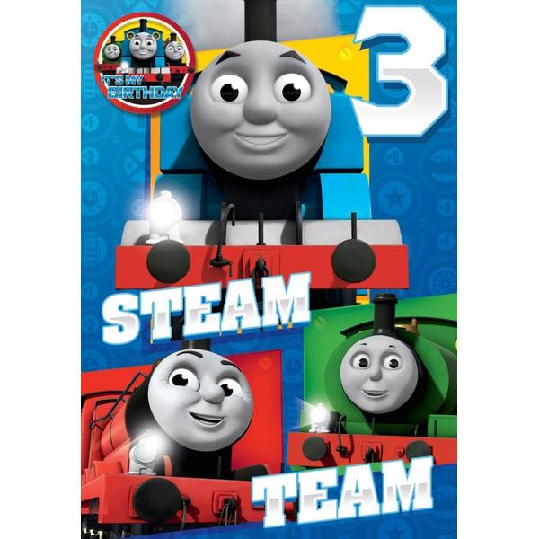 Thomas The Tank Engine Birthday Card Age 3