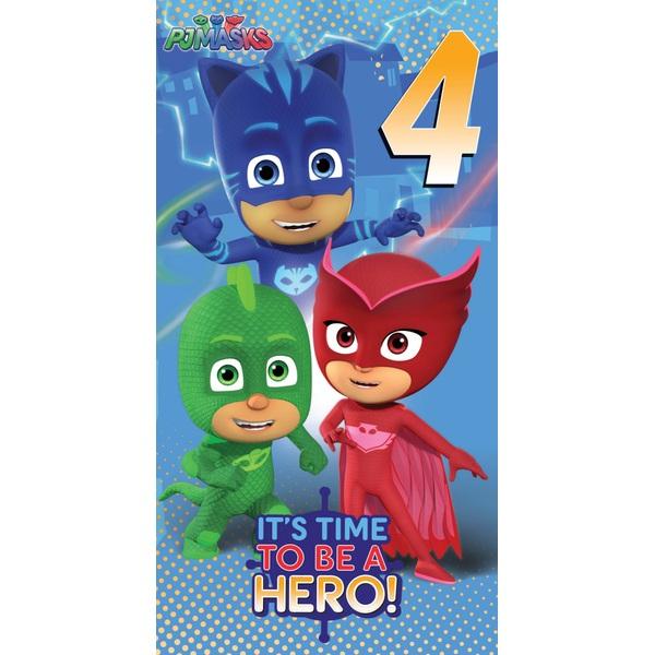 PJ Masks Age 4 Birthday Card