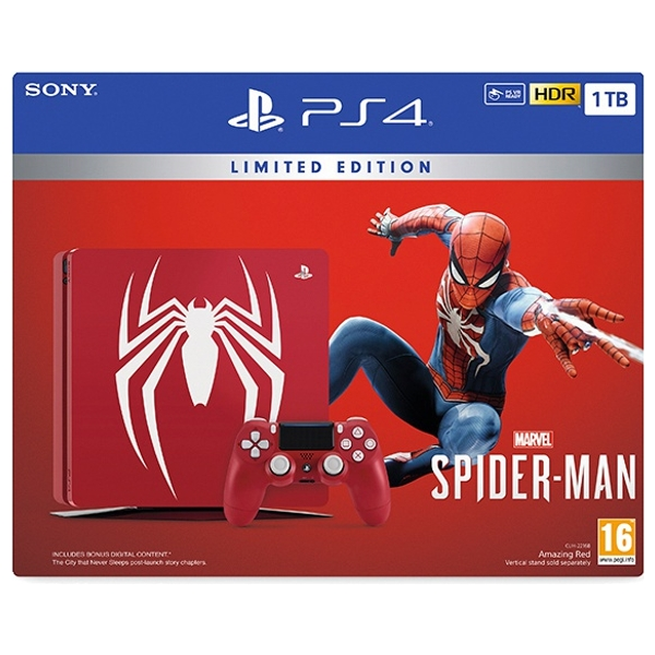 Ps4 1tb Limited Edition Marvel S Spider Man Console
