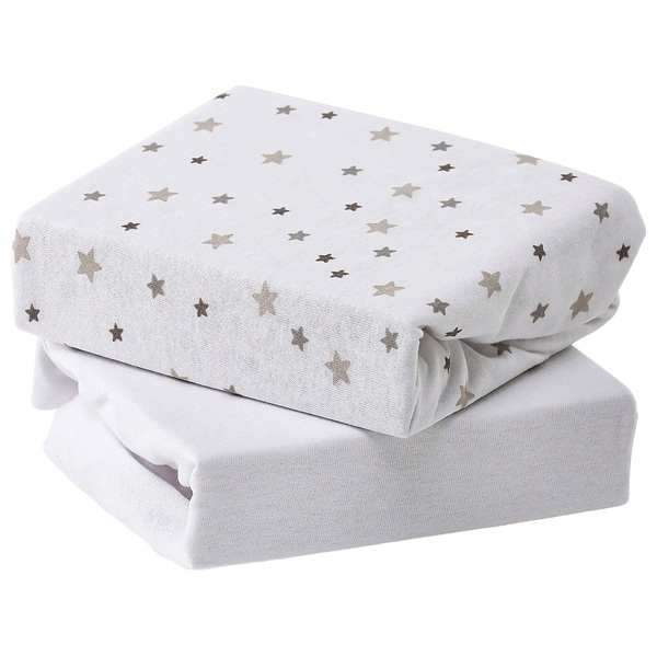 Baby Elegance Jersey Sheets - Grey Star Cot