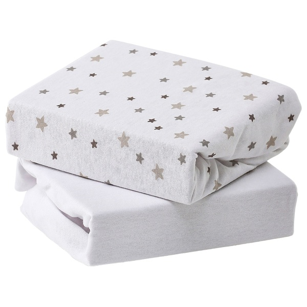 Baby Elegance Jersey Sheets - Grey Star Cot Bed